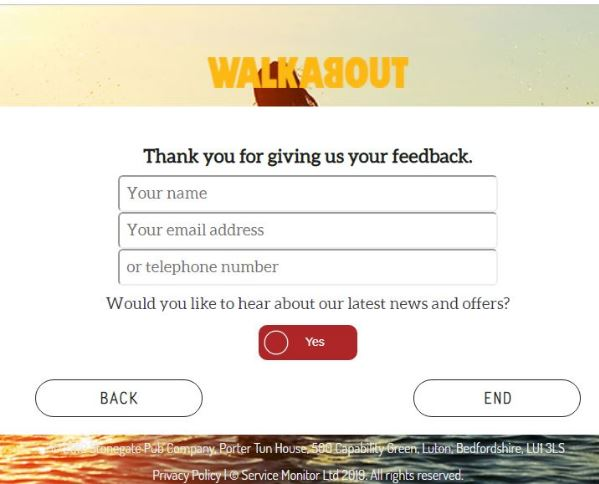 Walkabout Survey