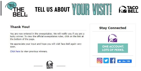 taco bell sweepstakes